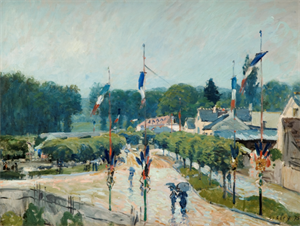 USS-Alfred Sisley Fete Day at Marley-le-Roi